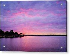 Sunset Lake Arlington Texas Acrylic Print