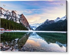 Sunset Lake Louise Acrylic Print