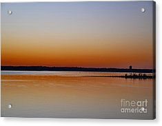Acrylic Print featuring the photograph Sunset Lake Texhoma by Diana Mary Sharpton