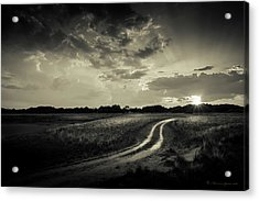 Sunset Lane-bw Acrylic Print by Marvin Spates