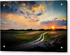 Sunset Lane Acrylic Print by Marvin Spates