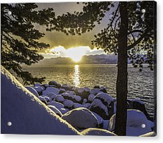 Sunset Light Lake Tahoe Acrylic Print