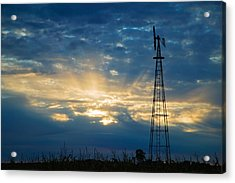 Sunset Light Through Heavy Clouds Acrylic Print by Panoramic Images