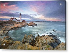 sunset lighthouse III Acrylic Print