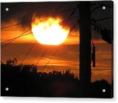 Sunset Acrylic Print by Lindie Racz