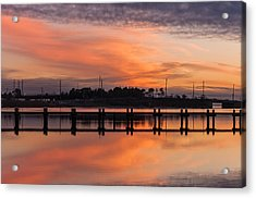 Sunset Lines Acrylic Print by Kristopher Schoenleber