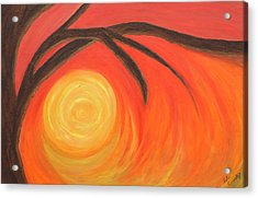 Sunset Acrylic Print by Lola Connelly