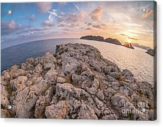 Acrylic Print featuring the photograph Sunset Malgrats Island Wide Angle by Hans- Juergen Leschmann
