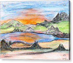 Sunset Acrylic Print by Margie  Byrne