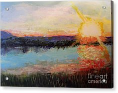 Sunset Acrylic Print by Marlene Book