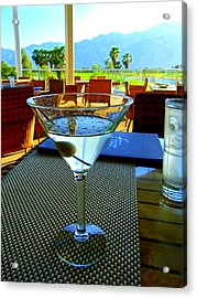 Sunset Martini Acrylic Print by Randall Weidner