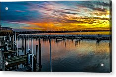 Sunset Masterpiece  Acrylic Print by Carlos Ruiz