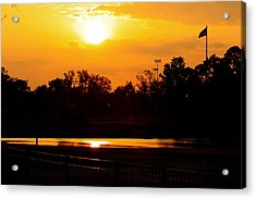 Sunset Acrylic Print by Michael Albright