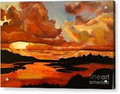 Sunset Acrylic Print by Michael Kulick