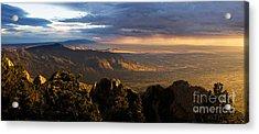 Sunset Monsoon Over Albuquerque Acrylic Print