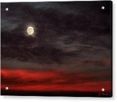 Sunset Moon Acrylic Print
