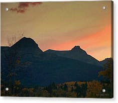 Sunset Mountain Silhouette Acrylic Print
