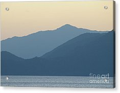Sunset Mountain Symphony Acrylic Print by Catja Pafort