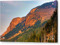 Acrylic Print featuring the photograph Sunset Mountains by Robert Pearson