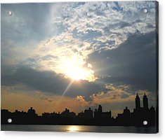 Sunset New York  Acrylic Print