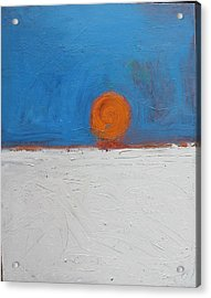 Sunset No. 11 Oil On Board 16 X 20 2008 Acrylic Print by Radoslaw Zipper