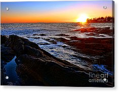 Sunset Off Pemaquid Point Acrylic Print by Olivier Le Queinec