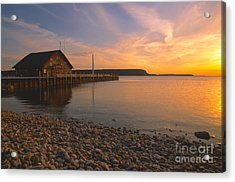 Sunset On Anderson's Dock - Door County Acrylic Print