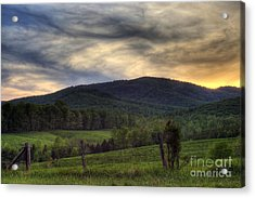 Sunset On Appleberry Mountain 2 Acrylic Print by Pete Hellmann