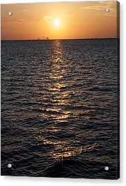Sunset On Bay Acrylic Print