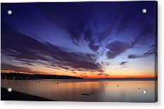 Sunset On Birch Bay 3 Acrylic Print by Julius Reque