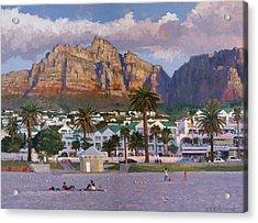 Sunset On Camps Bay Beach Acrylic Print