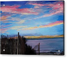 Sunset On Cape Cod Bay Acrylic Print by Jack Skinner