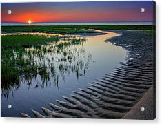 Sunset On Cape Cod Acrylic Print by Rick Berk