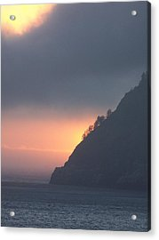 Sunset On Cape Lookout Acrylic Print by Angi Parks
