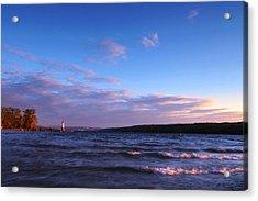 Sunset On Cayuga Lake Ithaca Acrylic Print by Paul Ge
