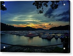 Acrylic Print featuring the photograph Sunset On Cheat Lake by Dan Friend