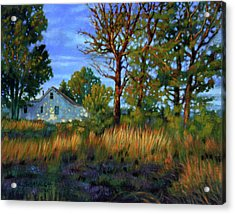 Sunset On Country Home Acrylic Print by John Lautermilch