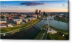 Sunset On Dayton Acrylic Print