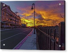 Sunset On Eliot St Milton Ma Acrylic Print
