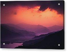 Sunset On Exoplanet Acrylic Print
