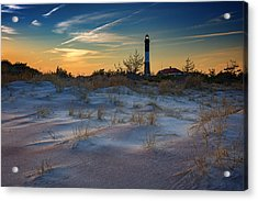 Sunset On Fire Island Acrylic Print by Rick Berk