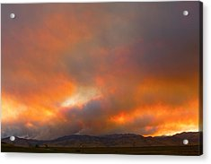 Sunset On Fire Acrylic Print by James BO  Insogna