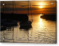 Sunset On Fisherrow Acrylic Print by Nik Watt