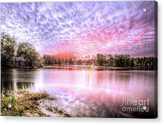 Sunset On Flint Creek Acrylic Print