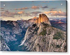 Sunset On Half Dome Acrylic Print