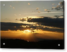 Sunset On Hwy 32 Acrylic Print