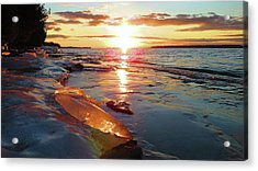 Sunset On Ice Acrylic Print