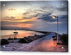 Sunset On Kerkennah Island Acrylic Print by Aleksey Napolskih