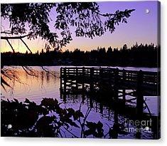 Sunset On Lake Ballinger Acrylic Print by Eddie Eastwood
