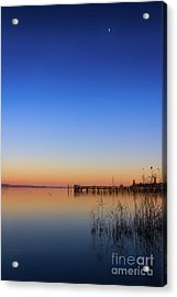 Sunset On Lake Constance II Acrylic Print by Bernd Laeschke